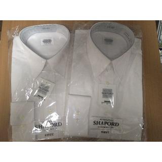 新品 メンズ SHAPORD 長袖ワイシャツ 2着セット(その他)