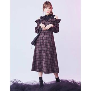 限定値下げ♡EATME 新作 中村里砂さん着用♡リブレイヤードマキシワンピース