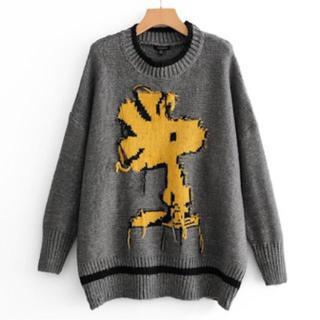 ZARA - インスタ話題♡SNOOPY♡ウッドストック♡刺繍ニット♡セーター