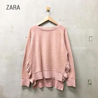 ZARA - 【ZARA】サイドフリルニット ザラ