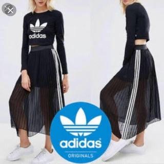 アディダス(adidas)のadidas originals アディダスオリジナルス シースルー スカート(ロングスカート)