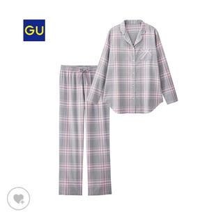 ジーユー(GU)の新品 GU チェックパジャマ M(パジャマ)