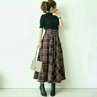 ZARA - 即日発送!【ZARA好きに☆】バックル付きベルトが可愛い♪チェック柄スカート