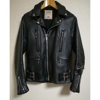 シックスシックスシックス(666)の666 Leather Wear LJM-1TF 32(ライダースジャケット)