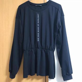 ザラ(ZARA)のZARA 正規品 長袖ペプラムトップス Tシャツ S(カットソー(長袖/七分))