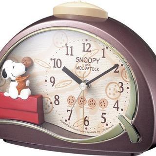 リズム時計 ( スヌーピー ) 目覚まし キャラクター