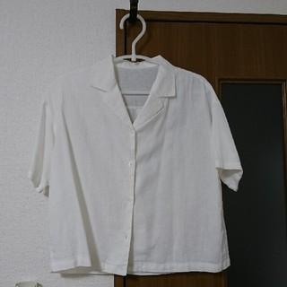 GU - GU  半袖シャツ  麻/レーヨン