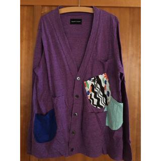ツモリチサト(TSUMORI CHISATO)のツモリチサト コットンカーディガン パープル紫(カーディガン)