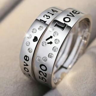 ❤即日発送 2個セット❤ シルバー925❤ジルコニア❤ペアリング フリーサイズ(リング(指輪))
