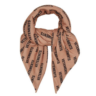 VETEMENTS logo print fleece scarf(バンダナ/スカーフ)
