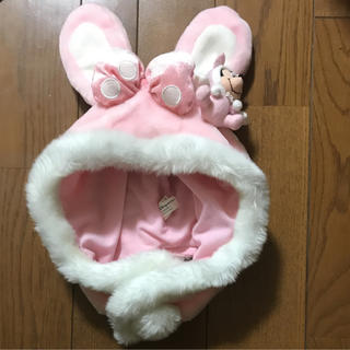 ディズニー(Disney)のディズニー ファンキャップ 帽子 ピンク ミニー ウサギ TDL TDS TDR(その他)