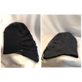 カシラ(CA4LA)のMANIERA マニエラ  リバーシブル ビーニーキャップ ニット帽(ニット帽/ビーニー)
