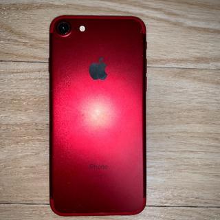 アイフォーン(iPhone)のiPhone7 128gb SIMフリー レッド  箱付き(スマートフォン本体)
