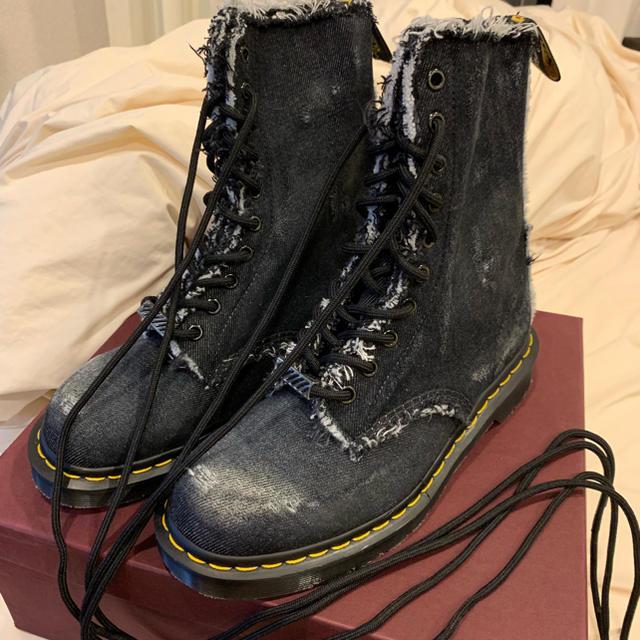 Dr.Martens bleach-denim bootsの通販