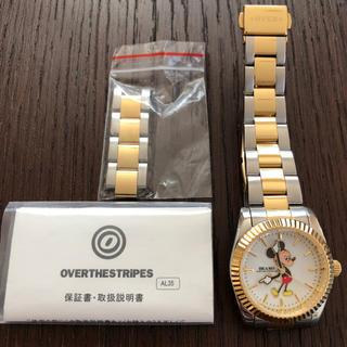 オーバーザストライプス(OVER THE STRIPES)のBEAMS×OVER THE STRIPESミッキーコラボウォッチ11/27まで(腕時計)
