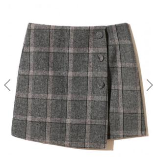 グレイル(GRL)のGRL チェックラップスカート(ミニスカート)