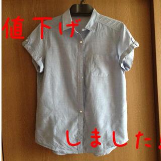 ジーユー(GU)の水色のシャツ(シャツ/ブラウス(半袖/袖なし))