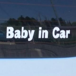 オリジナルカッティングステッカー  Baby in Car