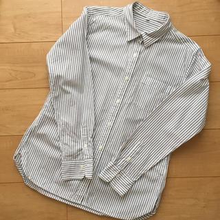 ムジルシリョウヒン(MUJI (無印良品))の無印 洗いざらしストライプシャツ M(シャツ/ブラウス(長袖/七分))