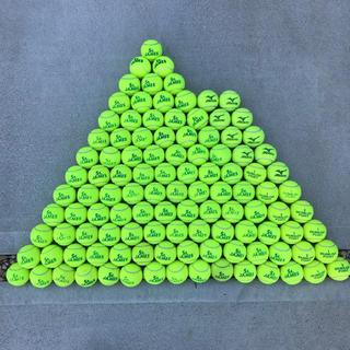 ダンロップ(DUNLOP)の硬式テニスボール ダンロップST ダンロップフォート ミズノ 中古 111球(ボール)