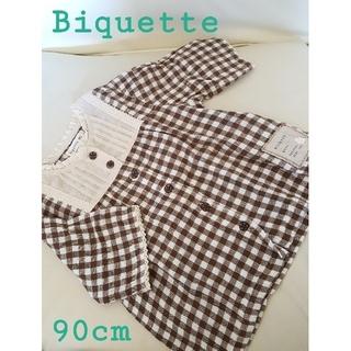 ビケット(Biquette)のビケット チェック柄チュニック 90cm(ワンピース)
