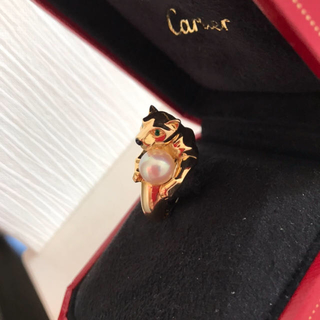 カルティエ(Cartier)のSALE‼︎ 正規 カルティエ パンテールヴェドラ パール 美品(リング(指輪))