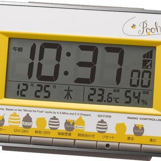 リズム時計 くまのプーさん 電波 目覚まし