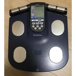 オムロン(OMRON)のオムロン カラダスキャン HBF-357-A 体重体組成計 ネイビー(体重計/体脂肪計)