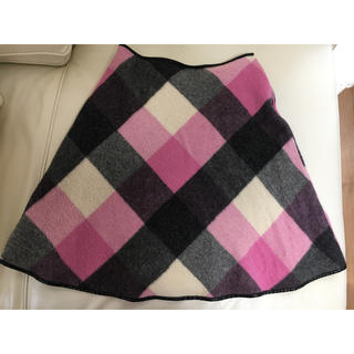 エムズグレイシー(M'S GRACY)のエムズグレイシー チェック ブロック柄 スカート 40(ひざ丈スカート)