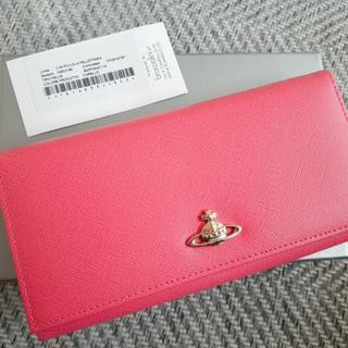 ヴィヴィアンウエストウッド(Vivienne Westwood)の【新品】ヴィヴィアンウエストウッド SAFFIANO ピンク 長財布(財布)