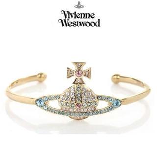 Vivienne Westwood - スワロフスキー マルチカラーオーブ バングル ブレスレット ゴールド