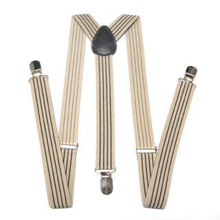 サスペンダー 100cm Y型二股 幅2.5cm ベージュ 黒 sus-0037(サスペンダー)