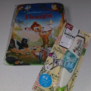 ディズニー(Disney)のバンビのフラットポーチと修正テープ(ポーチ)