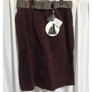 オキラク(OKIRAKU)のOKIRAKU-STORE パープルスカート 未使用新品 タグ付き(ひざ丈スカート)