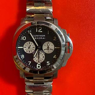 オフィチーネパネライ(OFFICINE PANERAI)の激レア!エルプリメロ搭載 パネライ ルミノール クロノ PAM00052(腕時計(アナログ))
