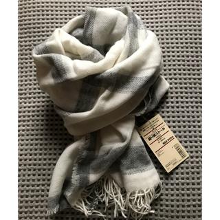 MUJI (無印良品) - 無印良品 MUJI  カシミヤ織り柄ストール 70×180cm大判ストール