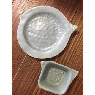 よしざわ窯 鳥皿と小鳥鉢 2枚セット