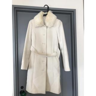 エヌナチュラルビューティーベーシック(N.Natural beauty basic)の白コート(ロングコート)