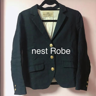 ネストローブ(nest Robe)のネストローブ リネン ジャケット ネイビー(テーラードジャケット)