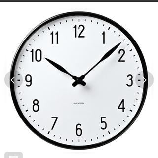 アルネヤコブセン(Arne Jacobsen)の【新品未使用】 アルネヤコブセン 時計 Station ホワイト×ブラック(掛時計/柱時計)