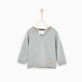 ザラ(ZARA)の新品未使用☆ZARA BABY boy ベーシックVネックセーター(ニット)