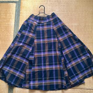 シンプリシテェ(Simplicite)の新品チェックスカート(ひざ丈スカート)