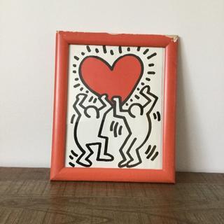 キースへリングポスター  フレーム木製(ポスターフレーム )