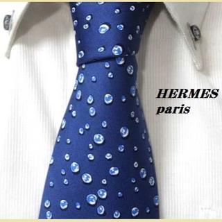 Hermes - 大人気★エルメス★HERMES★高級シルクネクタイ★水玉模様柄★