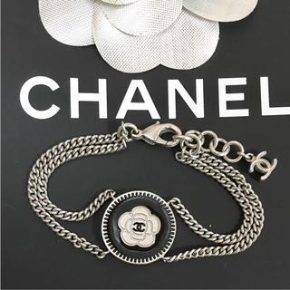 CHANEL - 正規品 シャネル ブレスレット カメリア ココマーク シルバー 花 フラワー 銀
