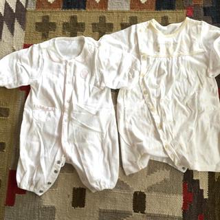 セレク(CELEC)のCELEC ツーウェイオール ロンパース 女の子 新生児 50 フーセンウサギ(カバーオール)