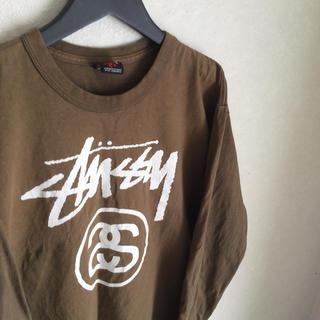 ステューシー(STUSSY)のSTUSSY 長袖ロゴTシャツ M(Tシャツ/カットソー(七分/長袖))