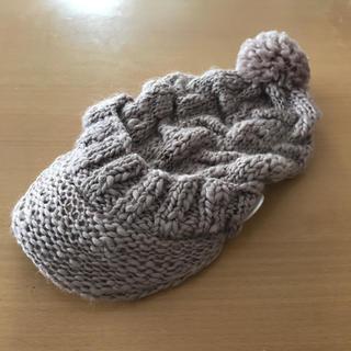 トプカピ(TOPKAPI)のニット帽 ニットキャスケット ポンポン(ニット帽/ビーニー)