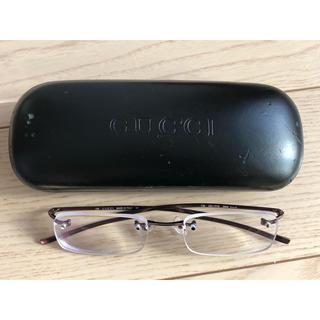 グッチ(Gucci)の《美品》GUCCI グッチ 眼鏡 メガネ パープル ピンク ケース付き(サングラス/メガネ)