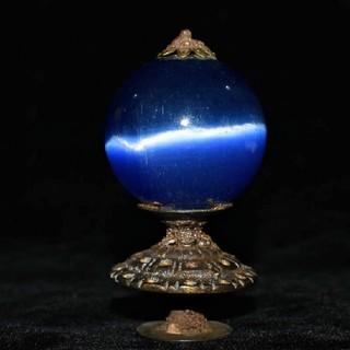 ★チベットの大昭寺に奉納されていた、綺麗なキャッツアイの摩尼(マニ ) 清時代(その他)